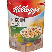 Мюсли Kelloggs 5 Korn Musli Fruit, 500 г (Германия)