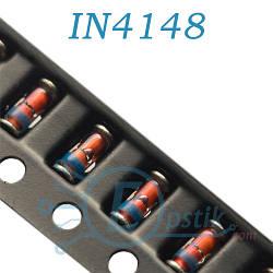 1N4148, быстрый диод 0.2А 100В, SOD80