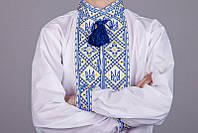 Українська вишита сорочка Герб, фото 1