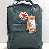 Рюкзак Fjallraven Kanken Classic - Green | зеленый | 16 литров | цвет хаки | классический