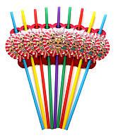 """Коктейльные трубочки """"L.O.L малиновый"""". Размер: 250мм. Диаметр: 5мм. В упак: 10 шт."""