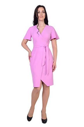 Жіночна сукня довжини міді у красивих рожевих тонах, фото 2