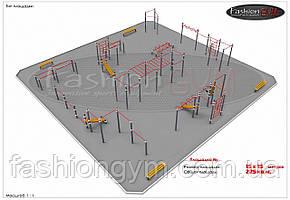 Вулична спортивний майданчик Workout 15х15м GK-100