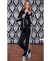 Спортивный костюм женский №1 (чёрный)