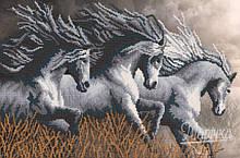 РКП-2-039. Схема для вишивки бісером Неприборкані коні.