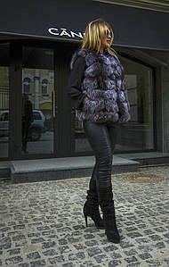 Женский жилет из чернобурки (111)