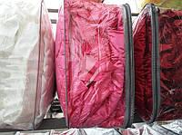Атласное покрывало с подушками Евро размера разные окрасы