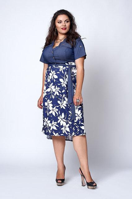 Легкое платье на лето большой размер 562