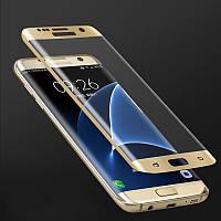 Защитное стекло на весь экран Samsung Galaxy S6 Edge G925 (изогнутое) (Самсунг С6 Эйдж Едже 925)