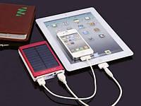 Портативный Power Bank Solar 30000mah повер банк +Фонарик! 20000 Солнечный Аккумулятор Зарядка Внешний Повер