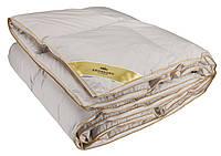 Гипоаллергенная одеяло кассетного сшивки, с наполнением из пуха серого европейского гуся 135х200см 800г