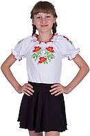 Украинская трикотажная блуза 9-16 лет/короткий рукав