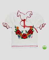 Украинская трикотажная блуза 3-9 лет/короткий рукав