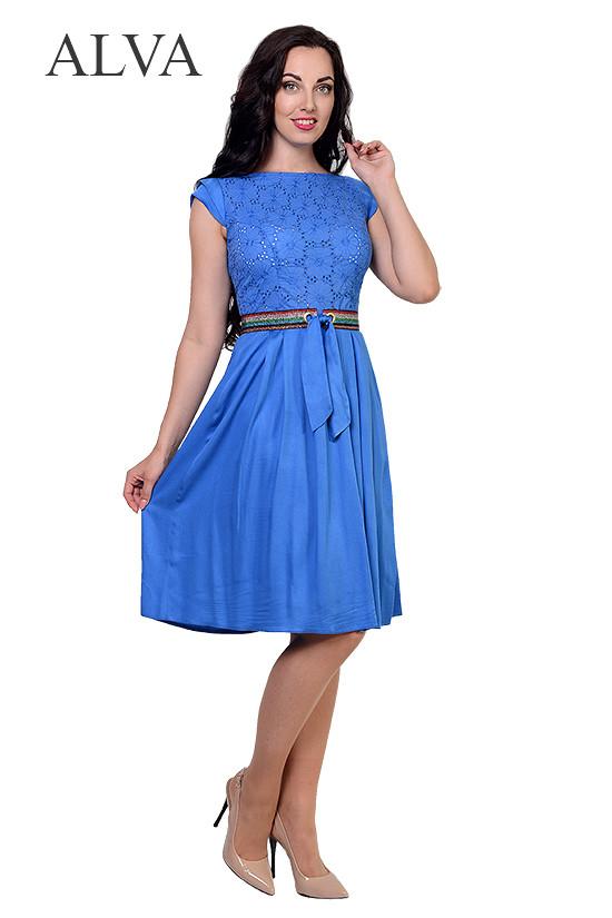 Платье на лето из легкой ткани 8492