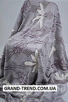 Махровое двуспальное покрывало - Белый цветок
