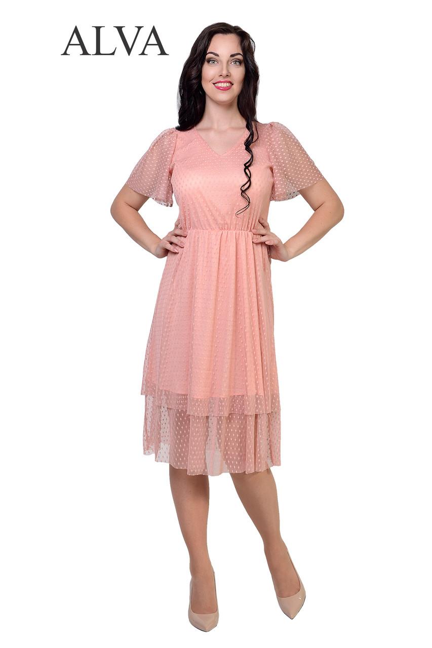 Платье в горошек летнее