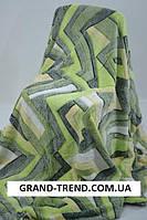 Махровое полуторное покрывало зеленый окрас