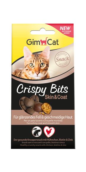 Gimcat Crispy Bits 40г- хрустящие лакомство для кошек с биотином (418544)