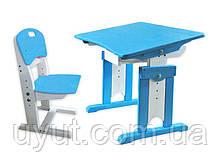 Комплект парта зі зростаючим стільцем з сосни Дельфін