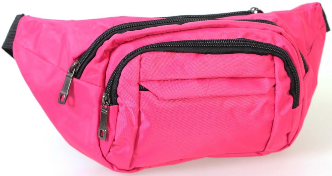 Женская сумка бананка на пояс розовая Summer Q003-1