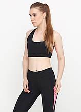 Женский топ для фитнеса и спорта (чёрный, розовый)