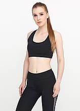 Женский топ для фитнеса и спорта (чёрный)