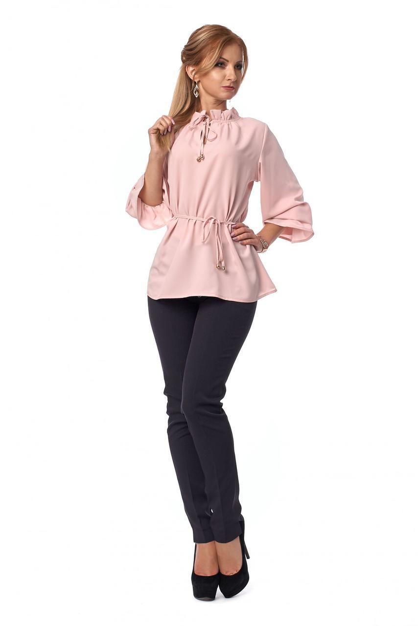 Брючный женский костюм с блузой 666SL, фото 1
