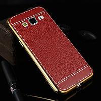 Силиконовый чехол Samsung Galaxy J3 2016 Ultra Leather Case (Самсунг Джей Джи 3 16)