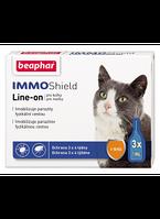 Beaphar IMMO Shield для котов - не химические противопаразитарные капли с силиконовым маслом