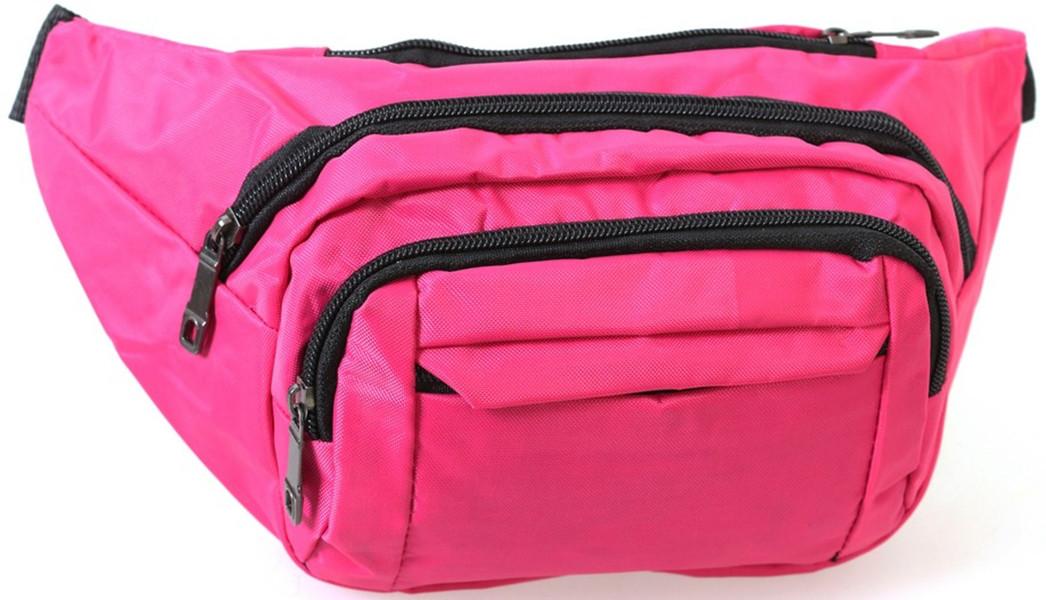 Женская поясная сумка-бананка ярко-розовая Summers Q003-18