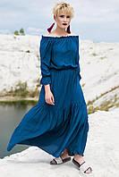 Тёмно-бирюзовое платье ADRIA