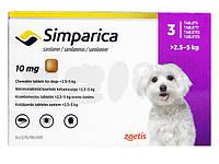 Симпарика 2,5-5 кг от блох и клещей для собак (3шт)
