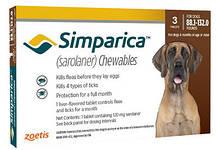 Симпарика 40-60 кг от блох и клещей для собак (3шт)