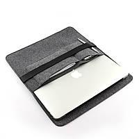 Чехол для ноутбука Digital Wool Case 13 Premium (DW 13-08) с кожаным ремешком