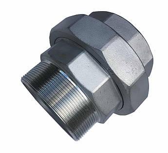 Згін-американка з нержавіючої сталі 2 1/2 дюйма внутрішня зовнішня