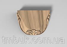Ножка для дивана, шкафа, тумбы, деревянной корпусной и мягкой мебели. Опора резная из дерева. 30 мм., фото 2