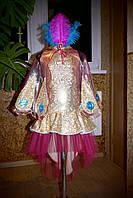 Жар-птица №2 - платье, крылья из органзы, головной убор, р.110-116