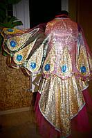 Жар-птица №2 - платье, крылья из органзы, головной убор, р.122-128