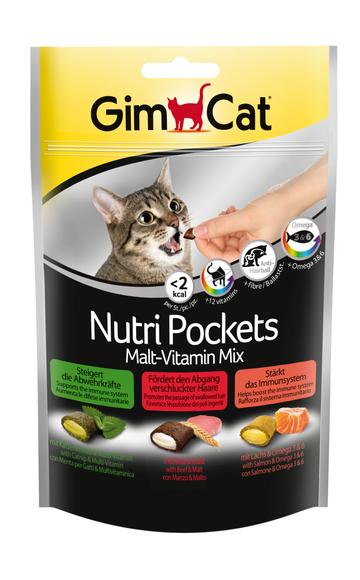 GimCat Nutri Pockets Солод-витаминный микс 150г (G-400693)