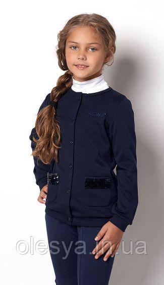 Детская кофта с пайетками на девочку 2227 Mevis Размеры 140, 146  Супер качество!