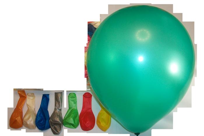 Воздушный шар металлик ассорти 10″/30 см