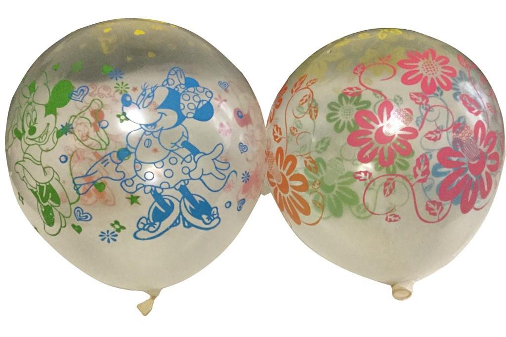 """Латексный воздушный шар 12″ с рисунком """"Минни и Микки"""""""