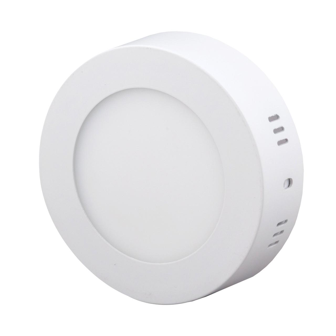 Накладной светодиодный светильник BIOM 6Вт круг Нейтральный белый 4000К