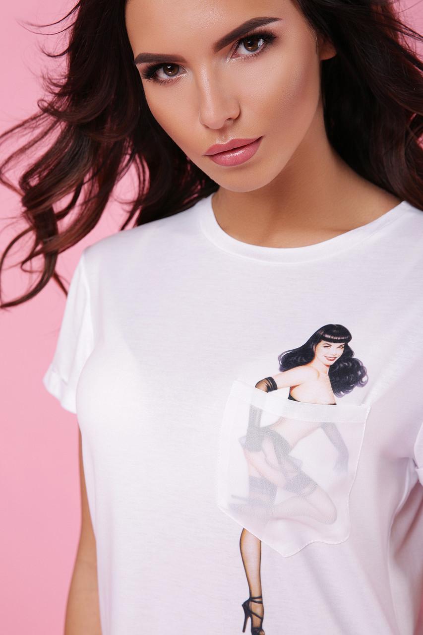 Женская футболка Pin up Girl-1 Boy-2