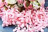 Тесьма с помпонами, 15 мм, нежно-розового цвета оптом