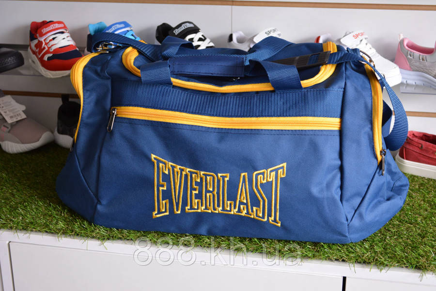Спортивная сумка Everlast, мужская сумка для тренировок синяя, копия