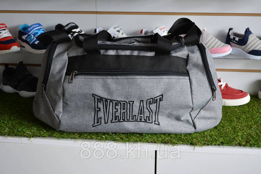 Спортивная сумка Everlast, мужская сумка для тренировок серая, копия