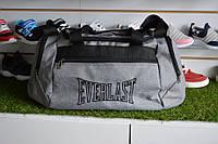 Спортивная сумка Everlast, мужская сумка для тренировок серая, копия, фото 1