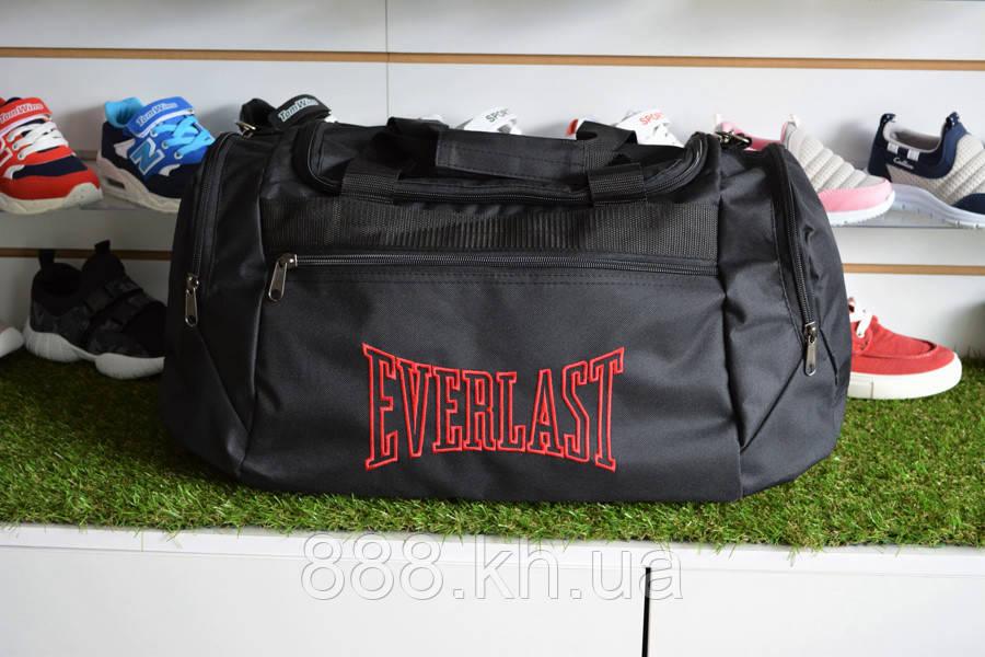 Спортивная сумка Everlast, мужская сумка для тренировок черная , копия