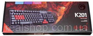 Игровая клавиатура Marvo K201 Black USB